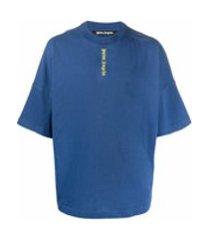 palm angels camiseta com estampa de logo - azul