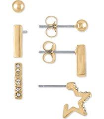 rachel rachel roy gold-tone 3-pc. set stud earrings