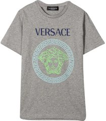 young versace gray t-shirt