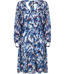 jurk met print amora  blauw