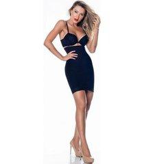 saia anágua modeladora com alça e cintura alta nayane rodrigues feminino - feminino