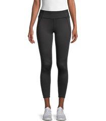 splendid women's distressed leggings - black - size s