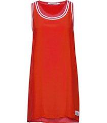 tank dress with mesh kort klänning röd calvin klein jeans