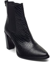 boots 7792 shoes boots ankle boots ankle boot - heel svart billi bi