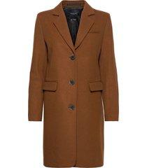 slfelina wool coat b noos wollen jas lange jas bruin selected femme