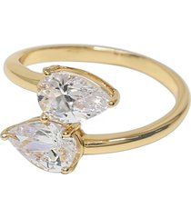ettika etikka crystal teardrop wrap ring, size 8 in gold at nordstrom
