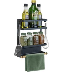 sorbus magnet 3 tier spice rack organizer for refrigerator