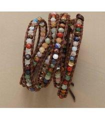 gemstone 5 wrap bracelet
