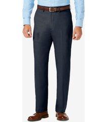 j.m. haggar sharkskin classic-fit flat front premium flex waistband dress pants
