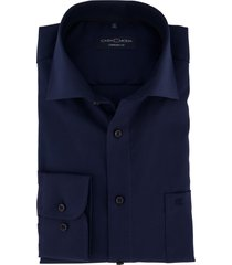 donkerblauw overhemd casa moda comfort fit