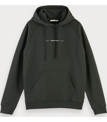 scotch & soda hoodie met logodetail