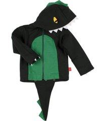 casaco moletom dinossauro taioca verde - verde - algodã£o - dafiti