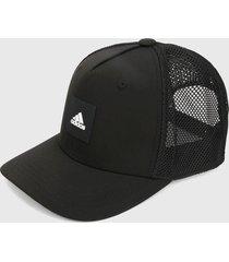 gorra negro-blanco adidas performance snapback trucker