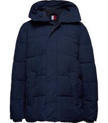 bt-heavy canvas bomber-b fodrad jacka blå tommy hilfiger big & tall