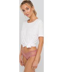 na-kd lingerie basic brazilian mesh panty - pink
