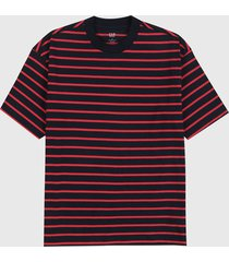camiseta azul navy-rojo gap