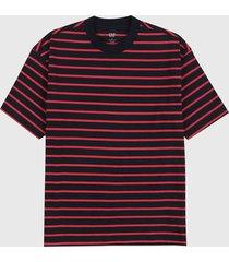 camiseta azul navy-rojo gap