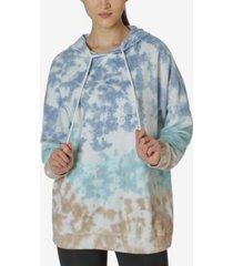 ultra flirt juniors' tie-dyed oversized hoodie