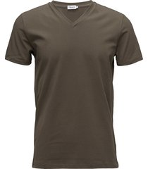 m. lycra v-neck tee t-shirts short-sleeved brun filippa k