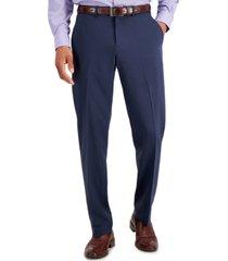 perry ellis portfolio men's modern-fit subtle check performance dress pants