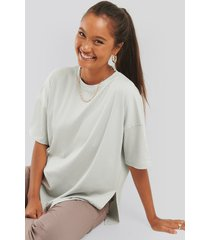 na-kd basic ribbed oversized tee - beige