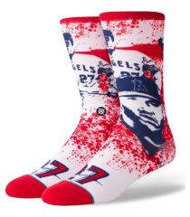 stance los angeles angels future legends splatter cartoon crew socks mike trout