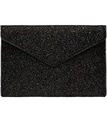 rebecca minkoff pochette glitter nera