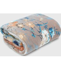 cobertor dupla-face casal jolitex com sherpa stresa azul/off-white