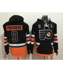 men's philadelphia flyers 11 travis konecny hockey pullover hoodie jersey