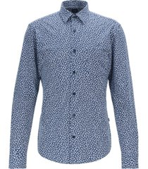 boss men's ronni p slim-fit floral-print shirt