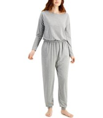 jenni knit one piece pajama jumpsuit, created for macy's