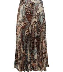 blumarine pleated printed skirt
