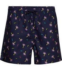 confetti palm swim shorts badshorts blå happy socks