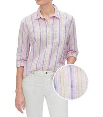 blusa lino blend multicolor gap