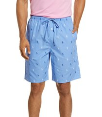 men's polo ralph lauren pajama shorts, size medium - blue