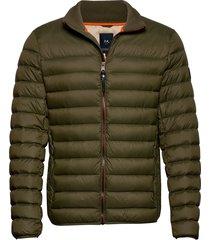light down jacket gevoerd jack groen lindbergh