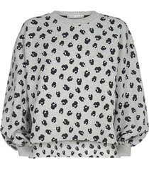 alice + olivia gaia print cotton sweatshirt