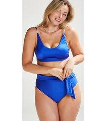 hunkemöller monaco djärvt skurna bikiniunderdelar med hög midja vivian hoorn blå