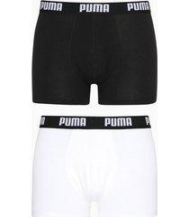 puma puma basic boxer 2p boxershorts white/black