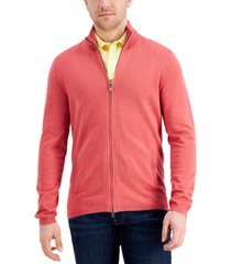 tasso elba men's two-way zip cardigan, created for macy's