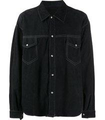 a.n.g.e.l.o. vintage cult 1980s cutaway collar shirt - black