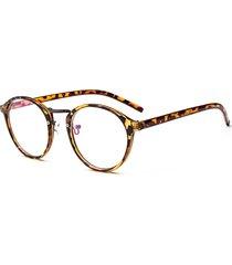 gli occhiali di vetro degli occhiali di vetro piatti circolari della pagina degli uomini di retro donne di modo fissano gli occhiali liberi dell'obiettivo