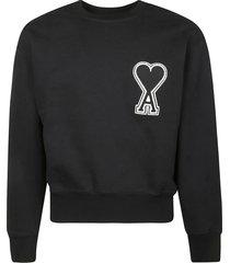 ami alexandre mattiussi heart patch sweatshirt