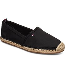 basic tommy flat espadrille sandaletter expadrilles låga svart tommy hilfiger