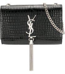 saint laurent kate tassel chain bag - black