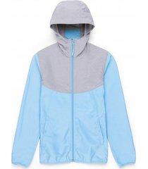 herschel jas supply co. women's voyage wind alaskan blue light grey crosshatch-xs