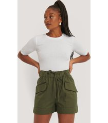 mango paperbag-shorts - green