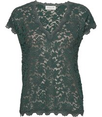 t-shirt ss t-shirts & tops short-sleeved groen rosemunde
