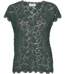 t-shirt ss t-shirts & tops short-sleeved groen rosemunde