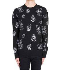 maglione maglia uomo girocollo bunny sticker